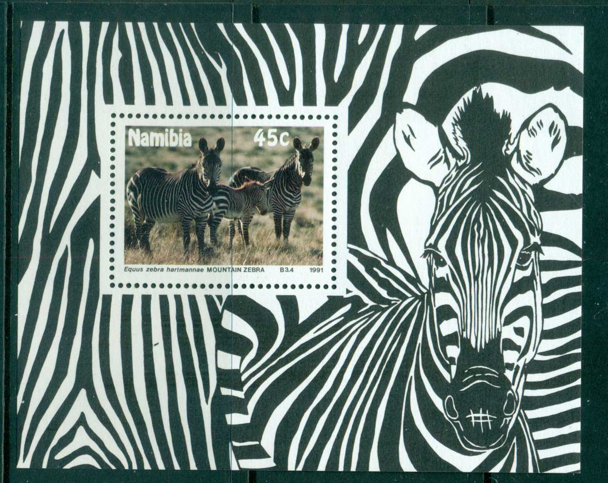 Namibia 1991 WW Zebra MS MUH lot57407