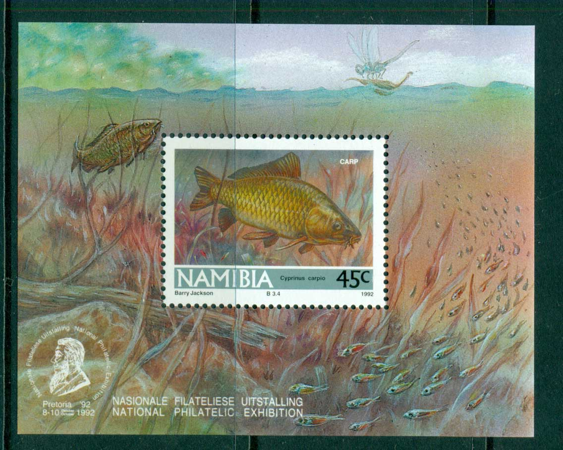 Namibia 1992 Fish, Carp MS MUH lot57408