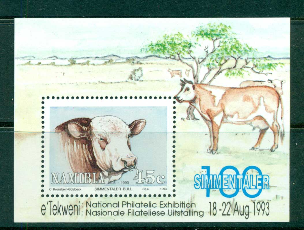 Namibia 1993 Cattle MS MUH lot57410