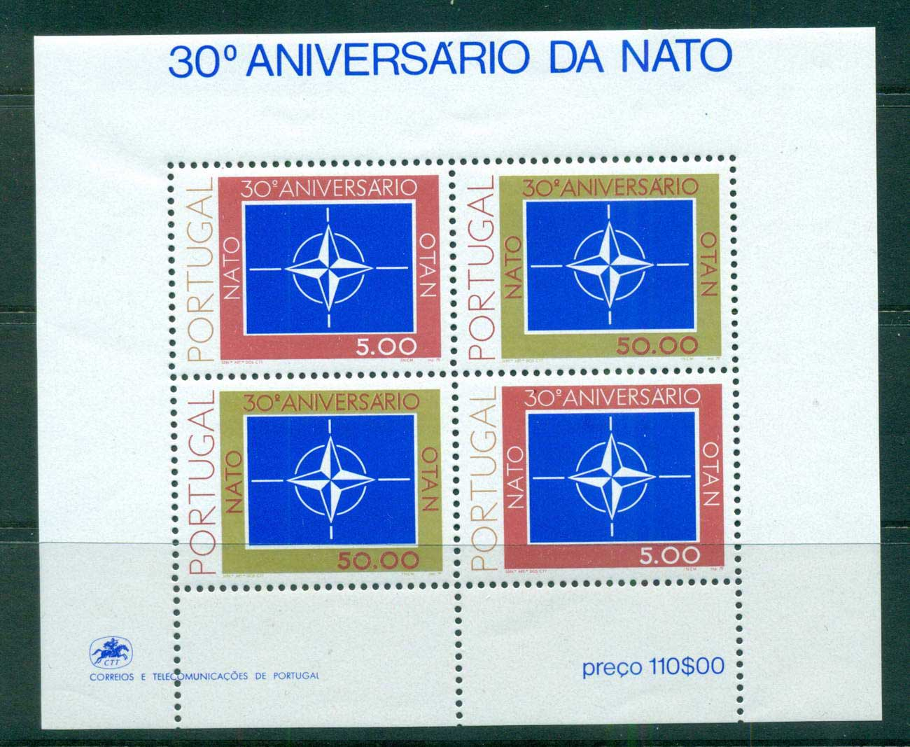 Portugal 1979 NATO MS MUH lot57483