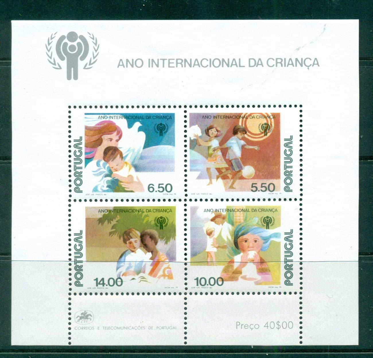 Portugal 1979 IYC Intl.year of the Child MS MUH lot57484