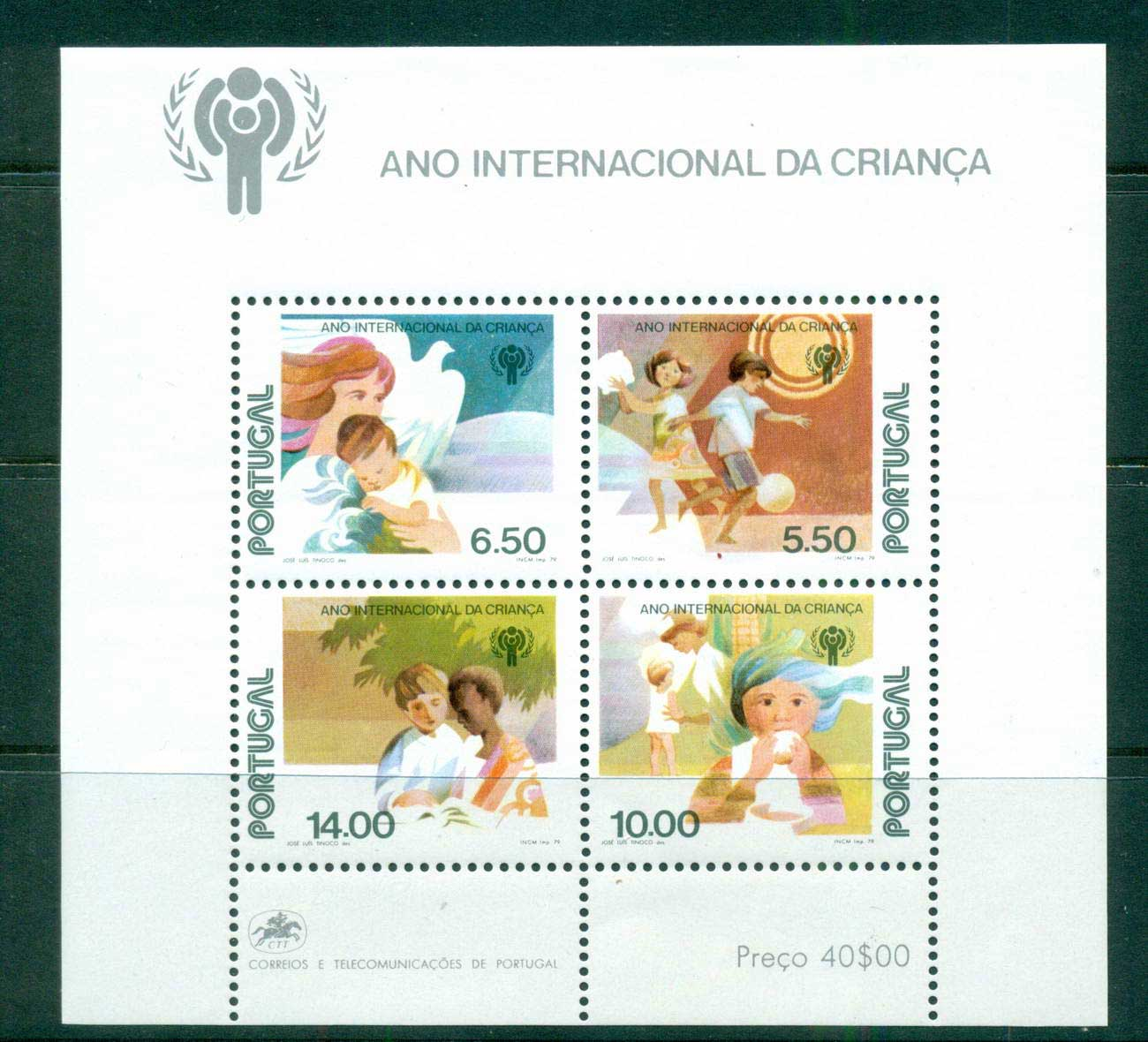 Portugal 1979 IYC Intl.year of the Child MS MUH lot57485