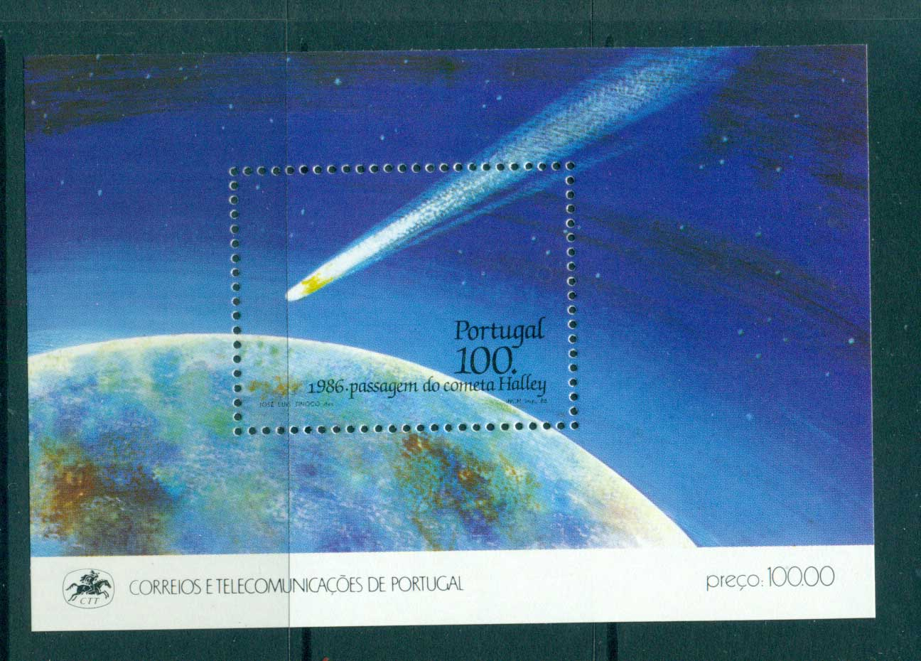 Portugal 1986 Halley's Comet MS MUH lot57501
