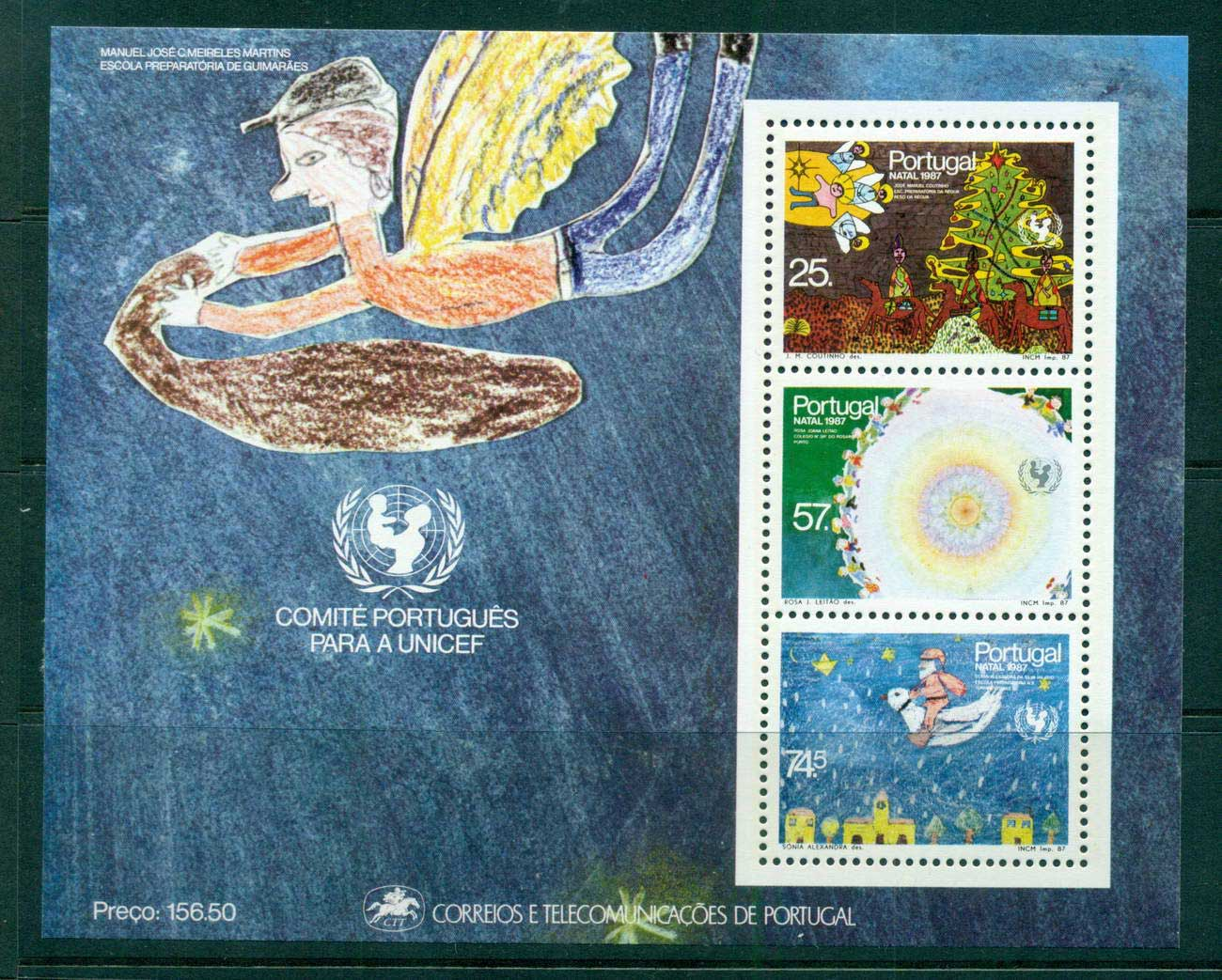 Portugal 1987 UNICEF MS MUH lot57506