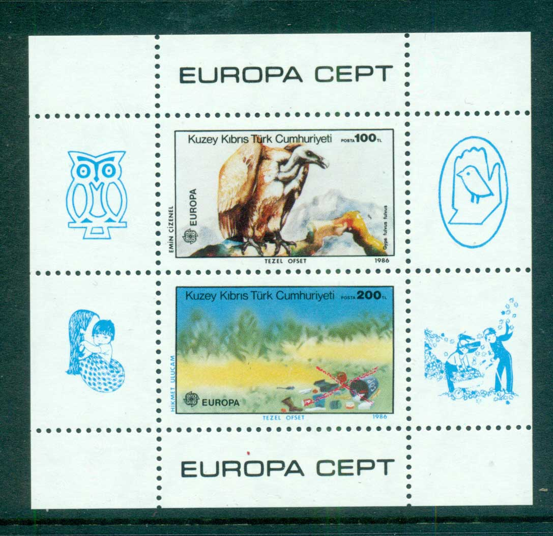 Cyprus Turkish 1986 Europa MS MUH lot57554