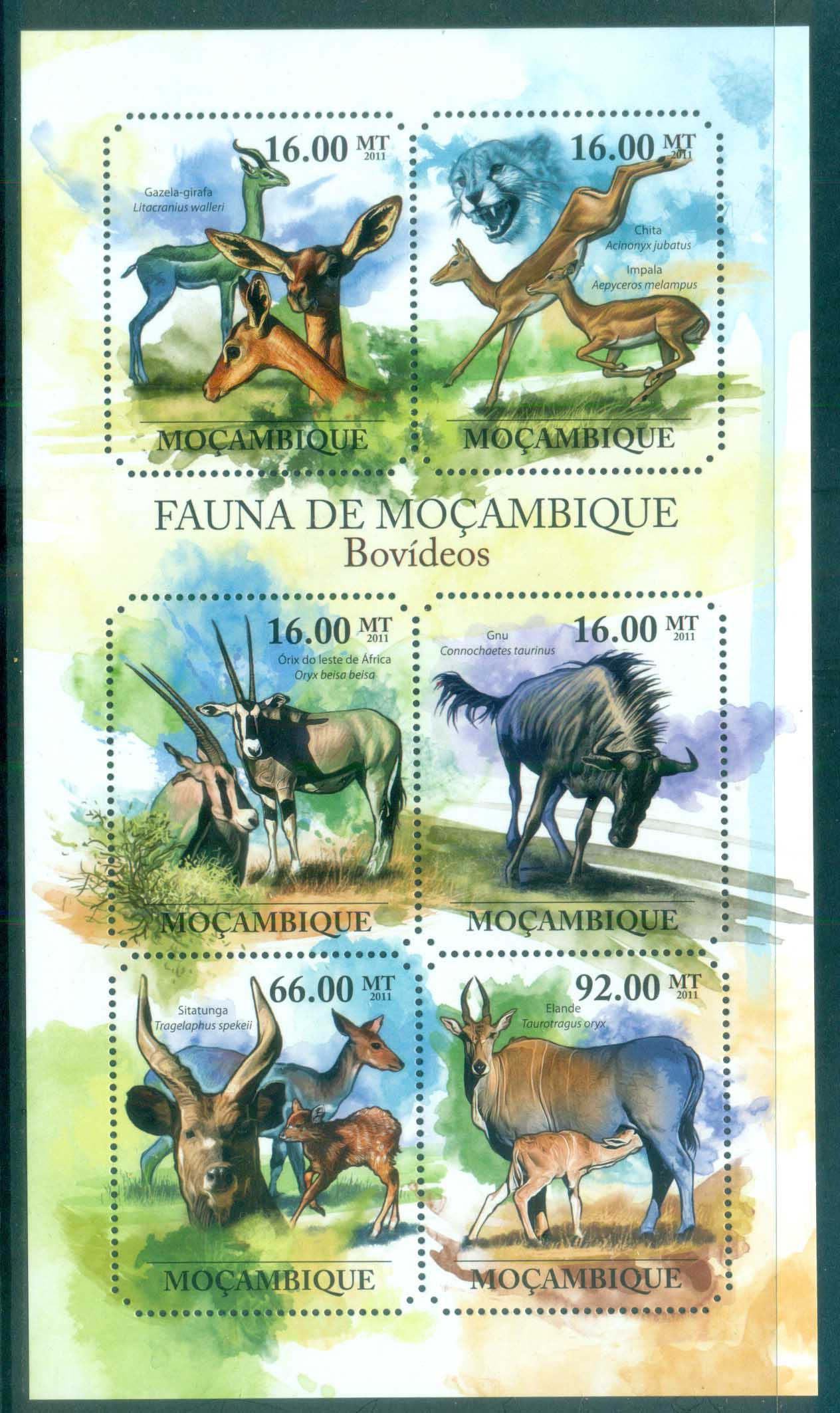 Mozambique 2011 African Wildlife, Antelope, Gazelle MS MUH MOZ11416a