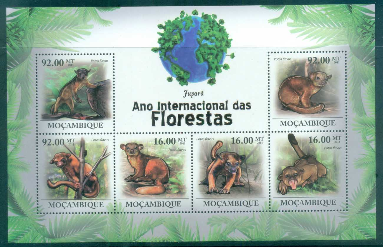 Mozambique 2011 African Wildlife, Potos, Primate MS MUH MOZ11109a