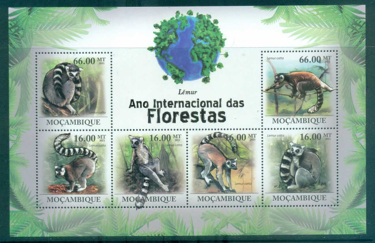 Mozambique 2011 African Wildlife, Lemur, Primate MS MUH MOZ11120a