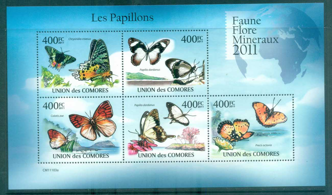 Comoro Is 2011 Insects, Butterflies, Moths, Caterpillar MS MUH CM11103a