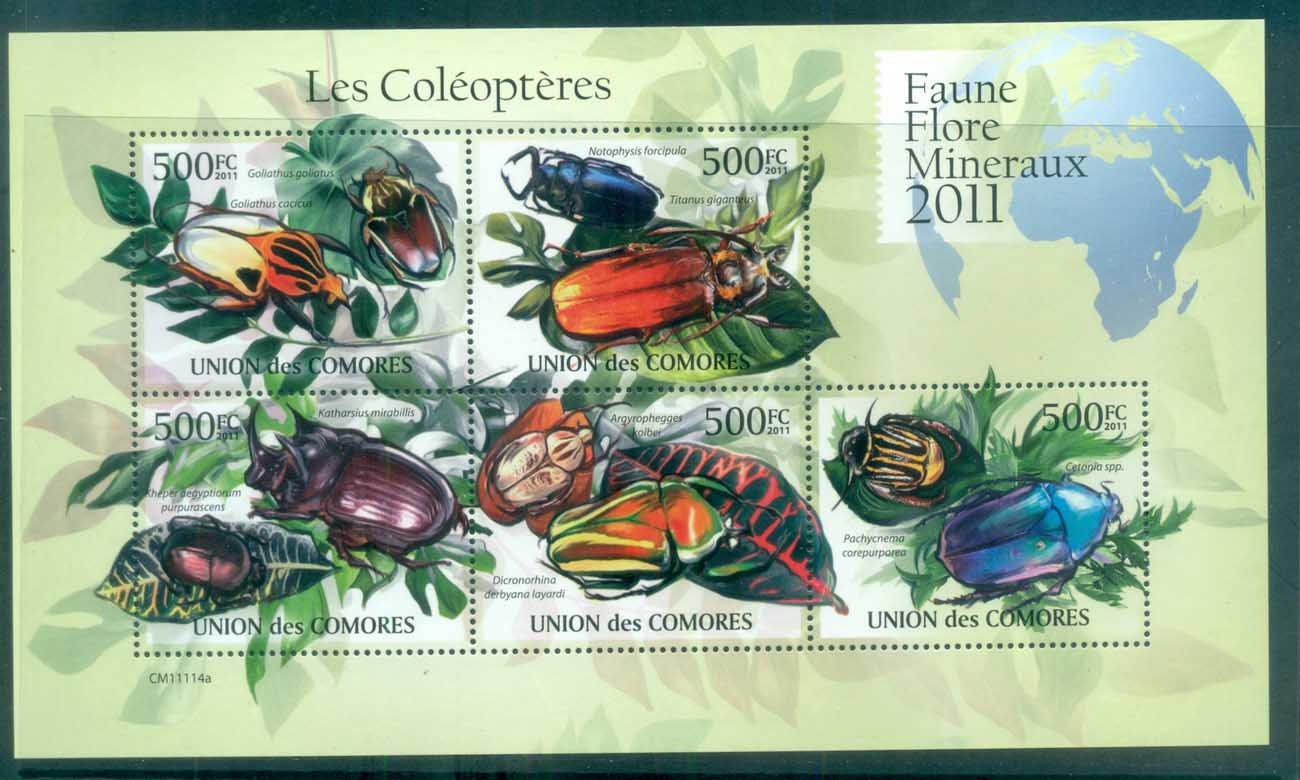 Comoro Is 2011 Insects, Beetles MS MUH CM11114a