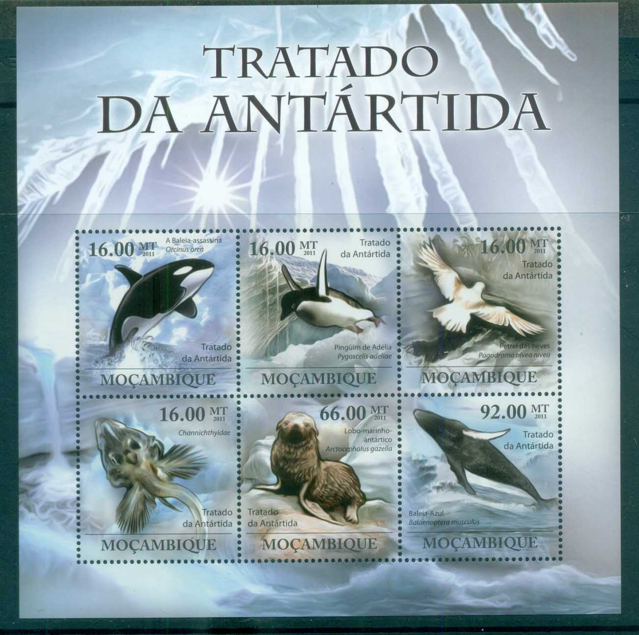 Mozambique 2011 Marine Life, Whales, Bird , Seal, Fish MS MUH MOZ11219a