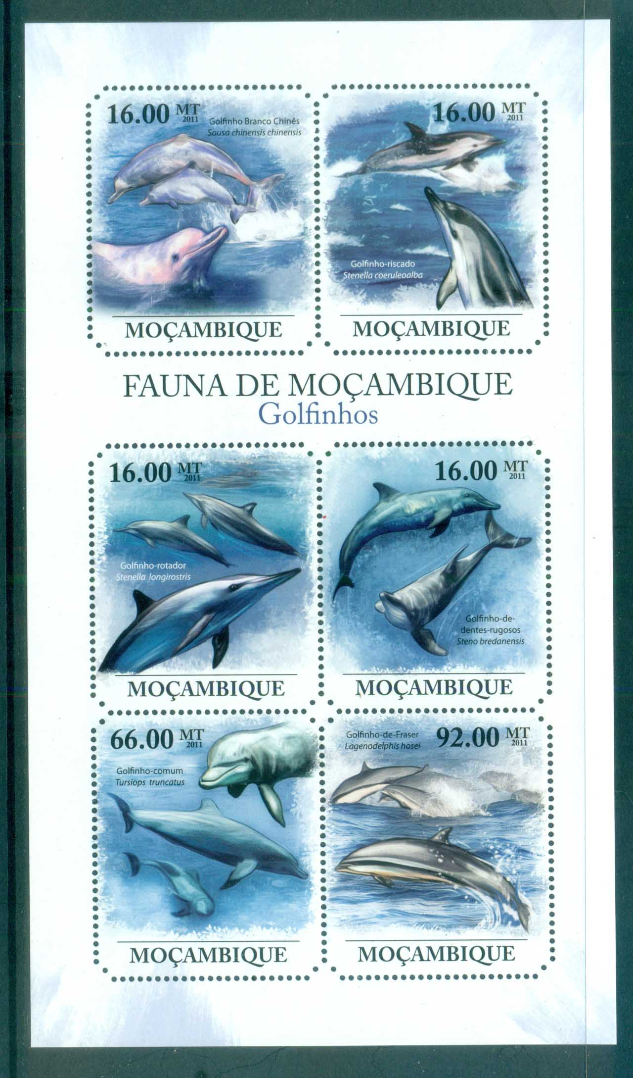 Mozambique 2011 Marine Life,Dolphins MS MUH MOZ11411a