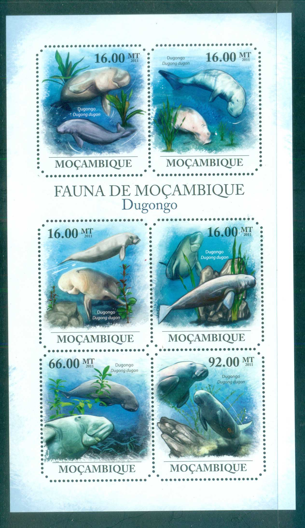Mozambique 2011 Marine Life,Dugong, Manatee MS MUH MOZ11418a