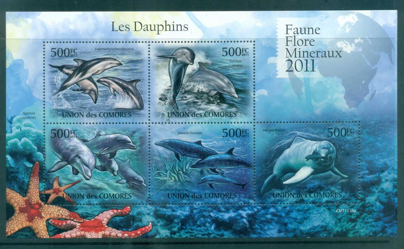 Comoro Is 2011 Marine Life,Dolphins MS MUH CM11110a