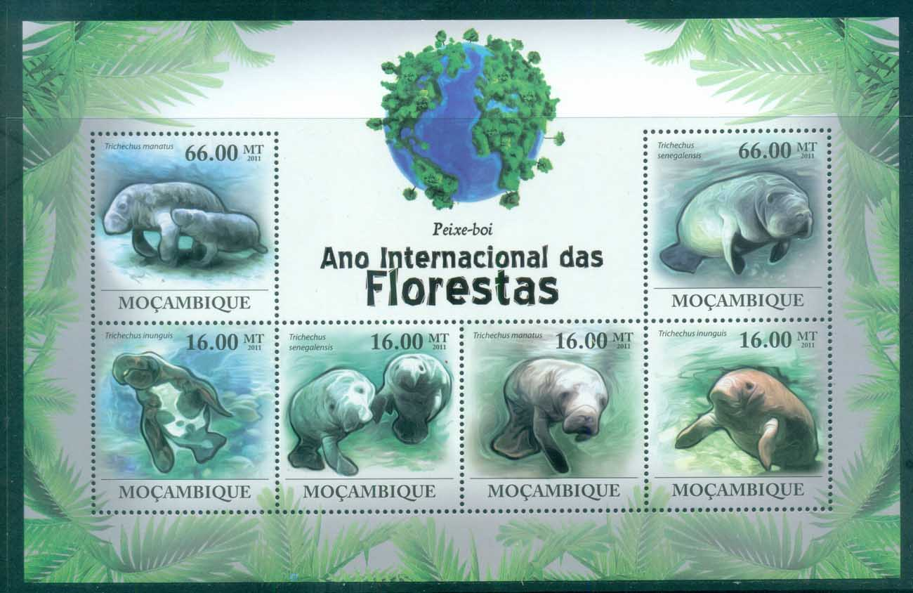 Mozambique 2011 Marine Life,Dugong, Manatee MS MUH MOZ11110a