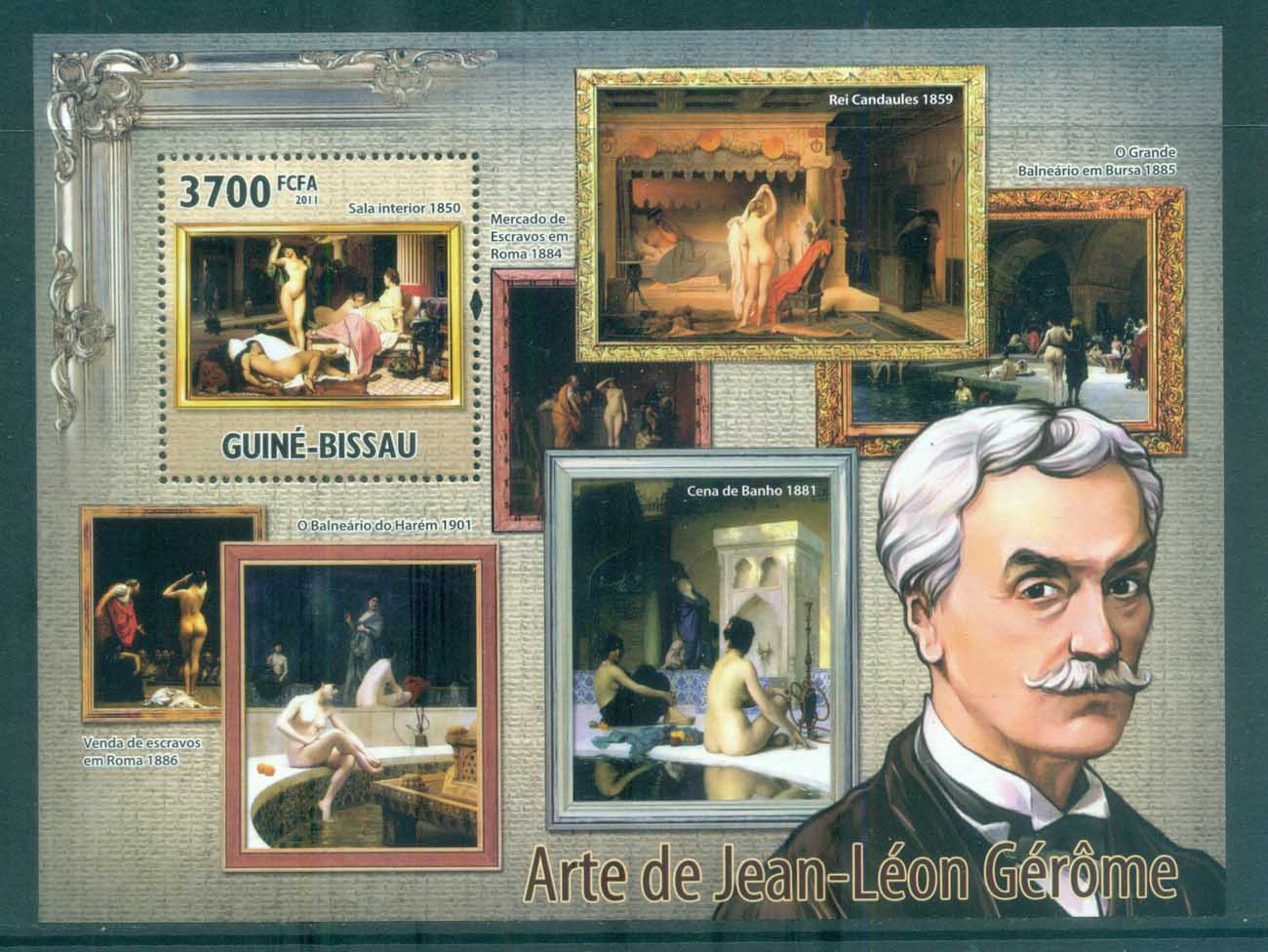 Guinea Bissau 2011 Art, Painting, Jean-Leon Gerome MS MUH GB11222b