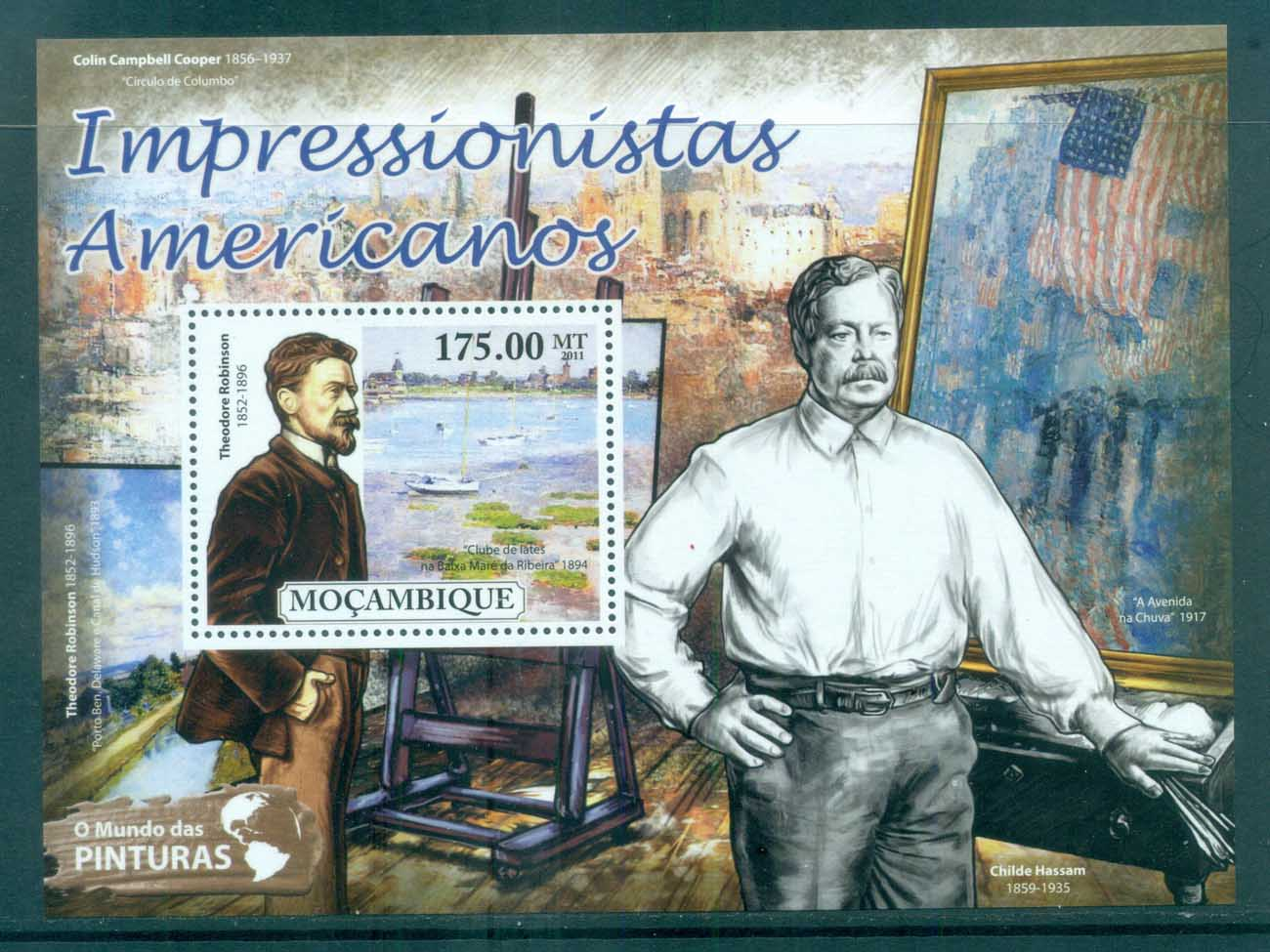Mozambique 2011 Art, Painting, American Impressionists, Theodore Robinson MS MUH MOZ11529b
