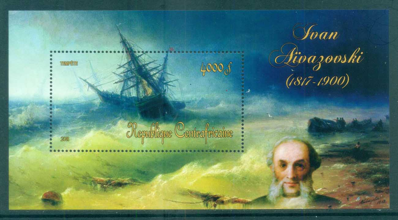 Central African Republic 2011 Art, Painting, Ivan Sivazovski MS MUH CA11416b