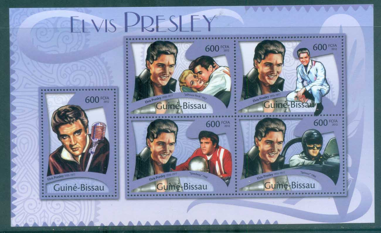 Guinea Bissau 2012 Famous People, Music, Male, Elvis Presley MS MUH GB12108a