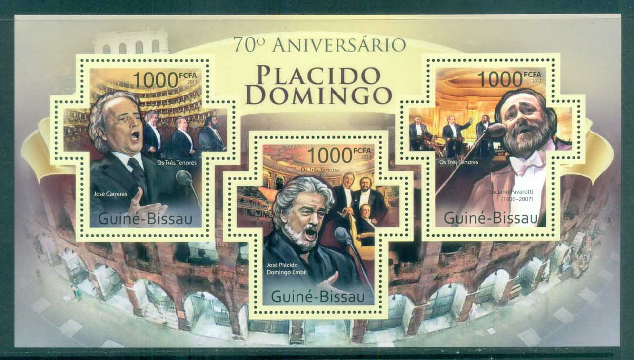 Guinea Bissau 2011 Famous People, Music, Classical, Placido Domingo MS MUH GB061