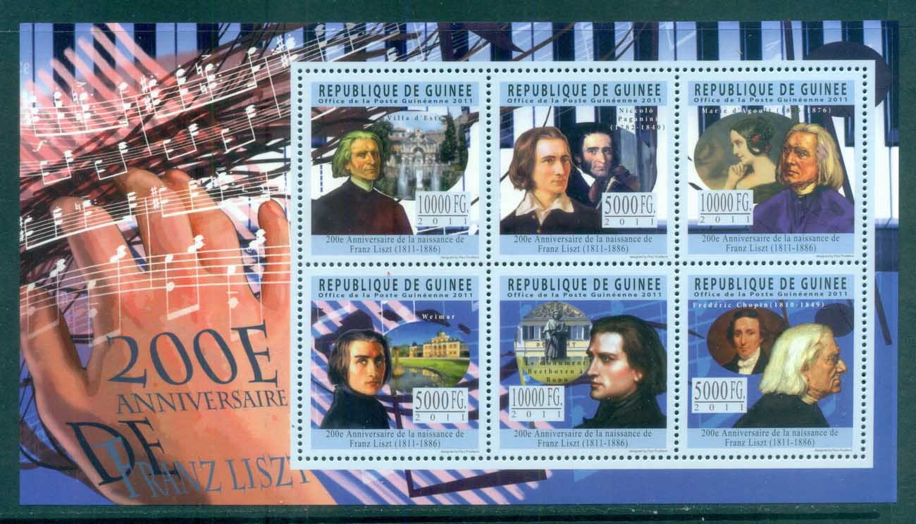 Guinee 2011 Famous People, Music, Classical, Franz Liszt MS MUH GU025