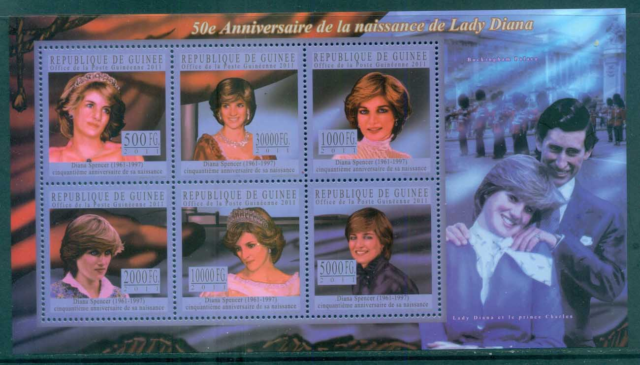 Guinee 2011 Famous People, Royalty, Diana MS MUH GU11111a