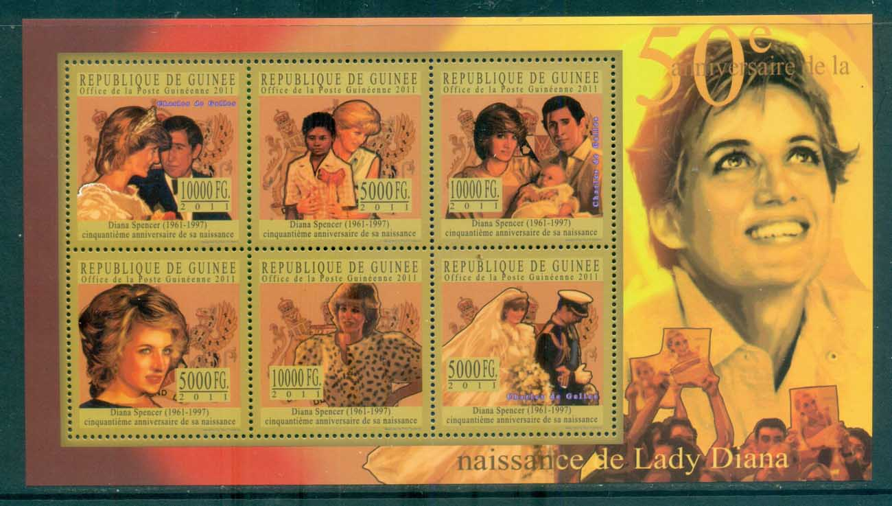 Guinee 2011 Famous People, Royalty, Diana MS MUH GU11129a