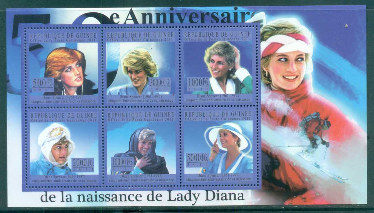 Guinee 2011 Famous People, Royalty, Diana MS MUH GU11128a