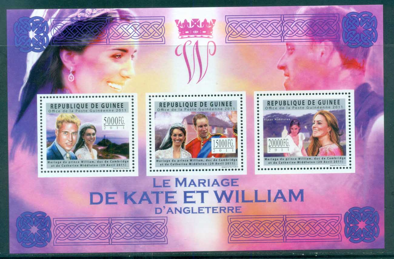 Guinee 2011 Famous People, Royalty, William & Kate MS MUH GU11611a