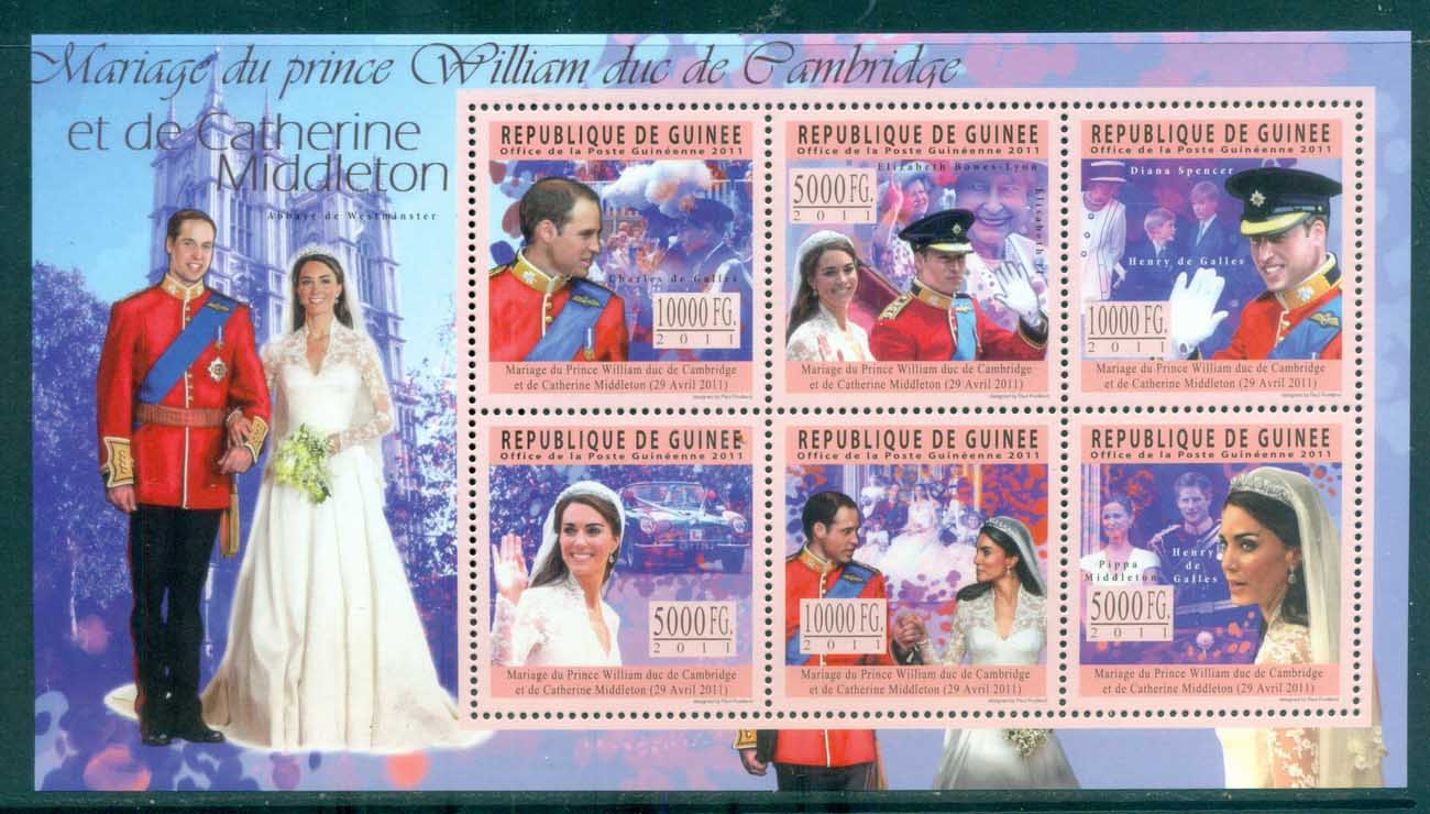 Guinee 2011 Famous People, Royalty, William & Kate MS MUH GU11211a
