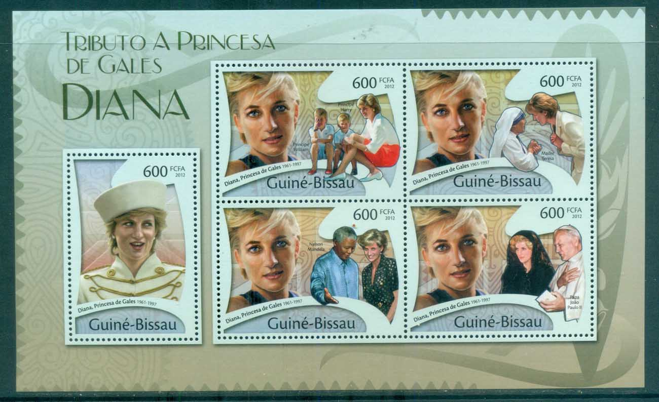 Guinea Bissau 2011 Famous People, Royalty, Diana MS MUH GB12102a
