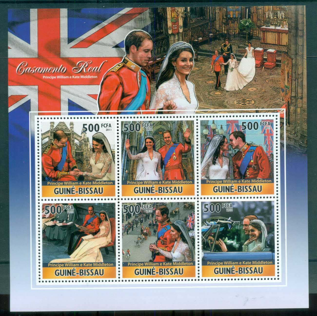 Guinea Bissau 2011 Famous People, Royalty, William & Kate MS MUH GB11304a