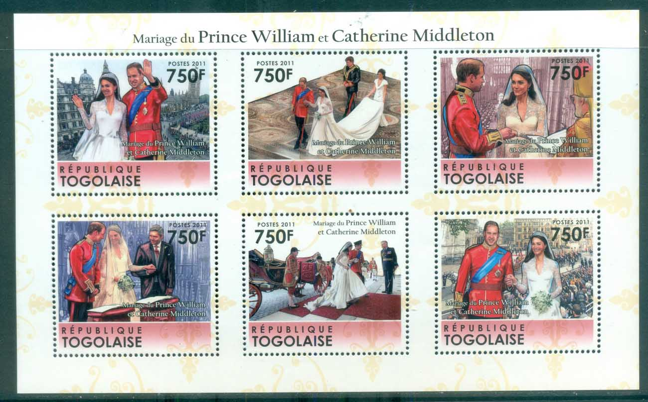 Togo 2011 Famous People, Royalty, William & Kate MS MUH TG11310a