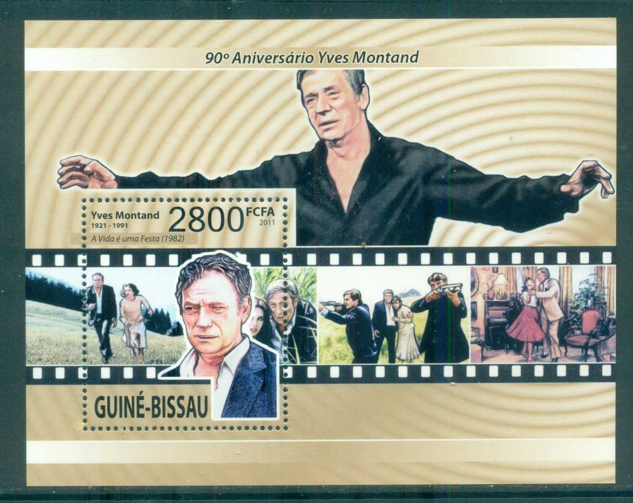 Guinea Bissau 2011 Famous People, Film, Yves Montand MS MUH GB11418b