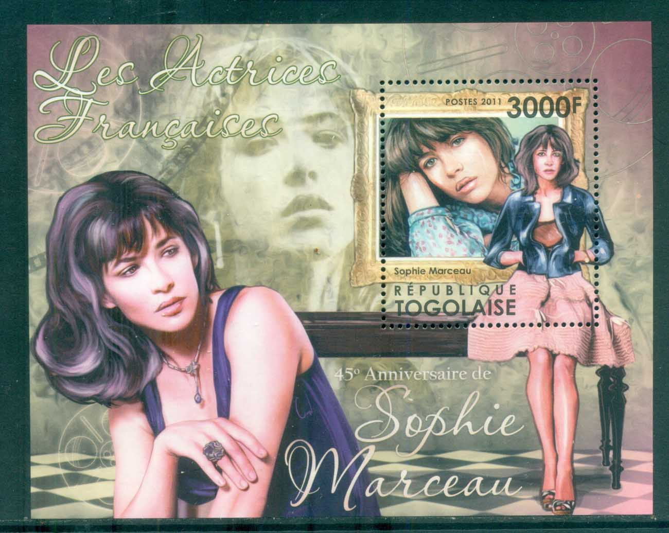 Togo 2011 Famous People, Film, Sophie Marceau, French Actresses MS MUH TG11513b