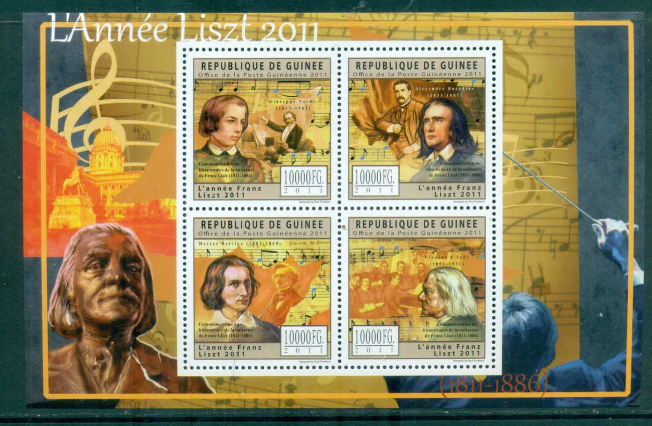Guinee 2011 Famous People, Music, Classical, Franz Liszt MS MUH GU005