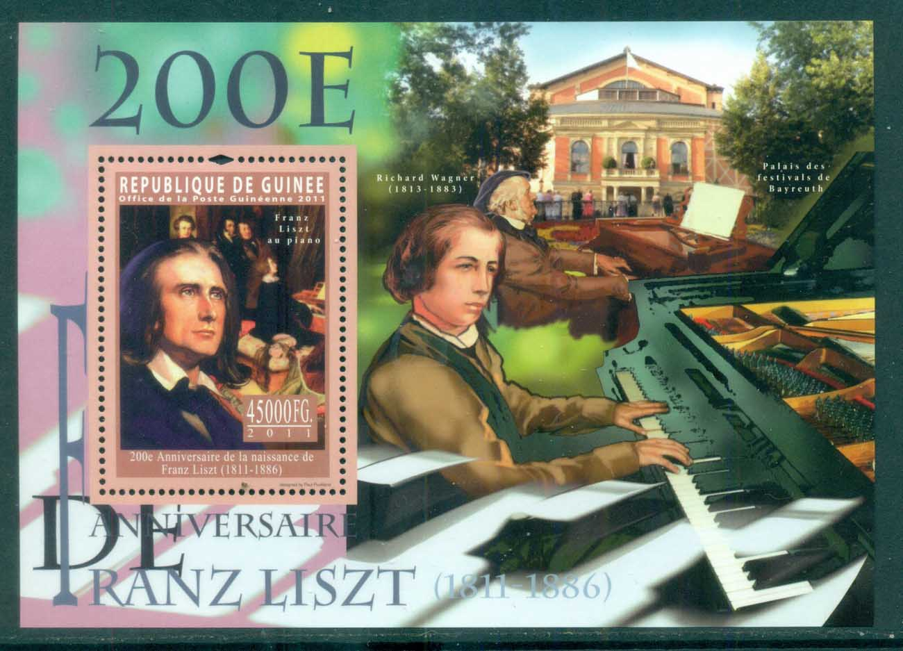 Guinee 2011 Famous People, Music, Classical, Franz Liszt MS MUH GU006