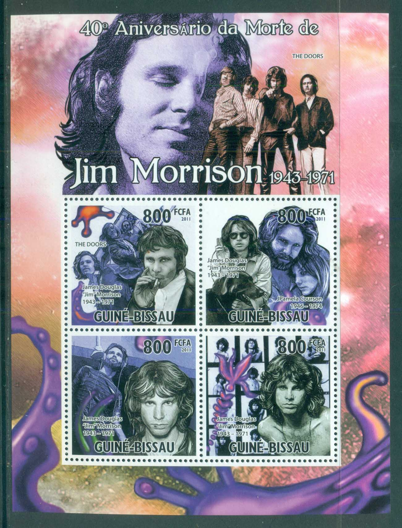 Guinea Bissau 2011 Famous People, Music, Male, Jim Morrison MS MUH GB035