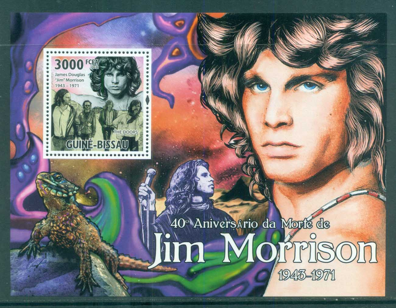 Guinea Bissau 2011 Famous People, Music, Male, Jim Morrison MS MUH GB034