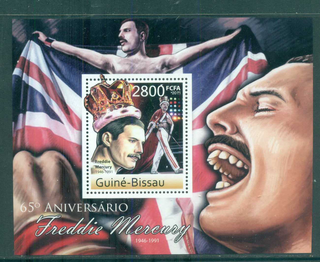 Guinea Bissau 2011 Famous People, Music, Male, Freddie Mercury MS MUH GB030