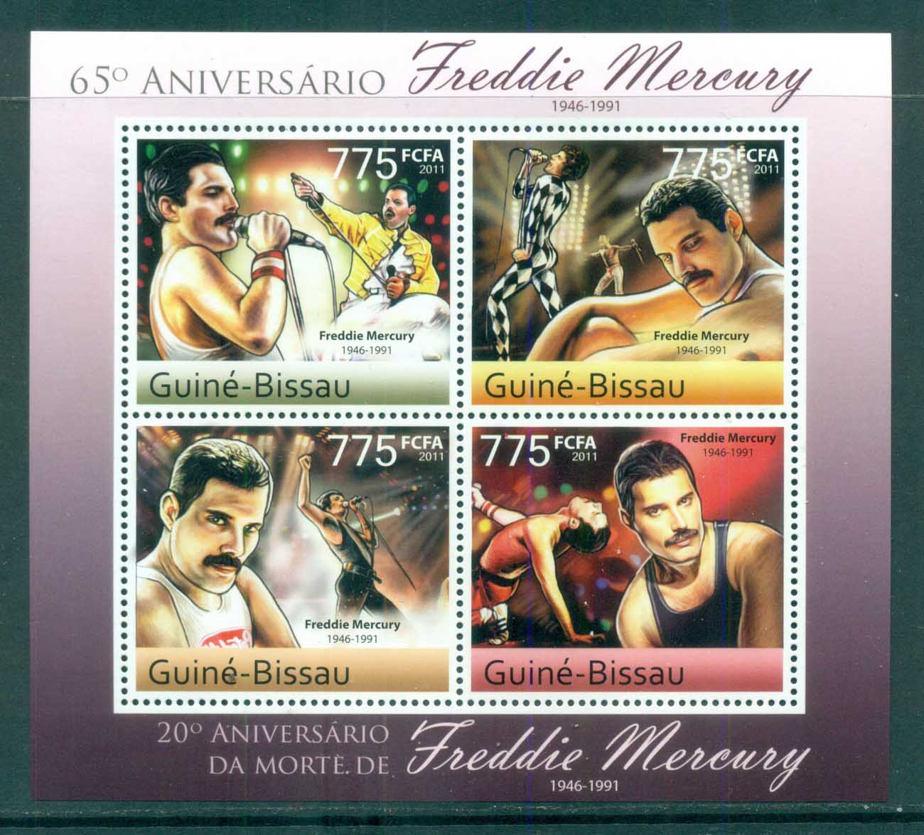 Guinea Bissau 2011 Famous People, Music, Male, Freddie Mercury MS MUH GB031