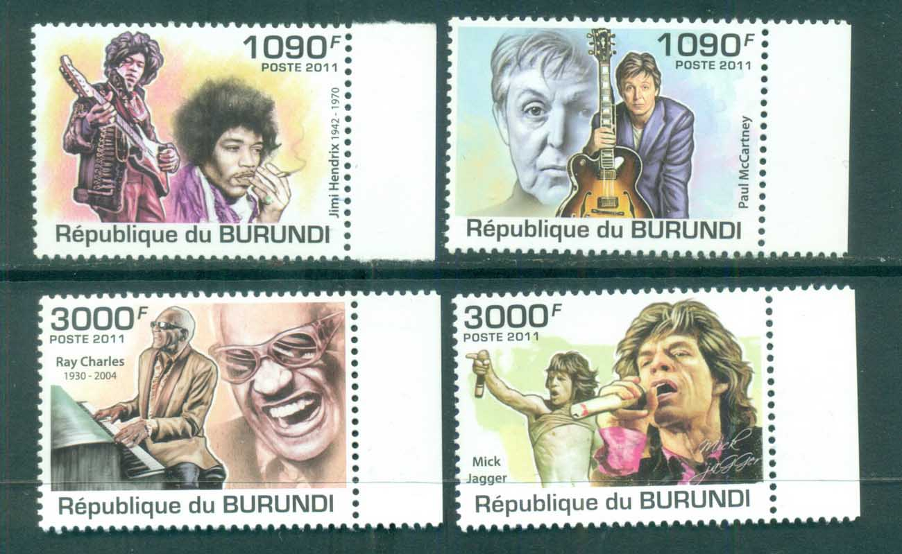 Burundi 2011 Famous People, Music, Male, Legends MUH BUR012