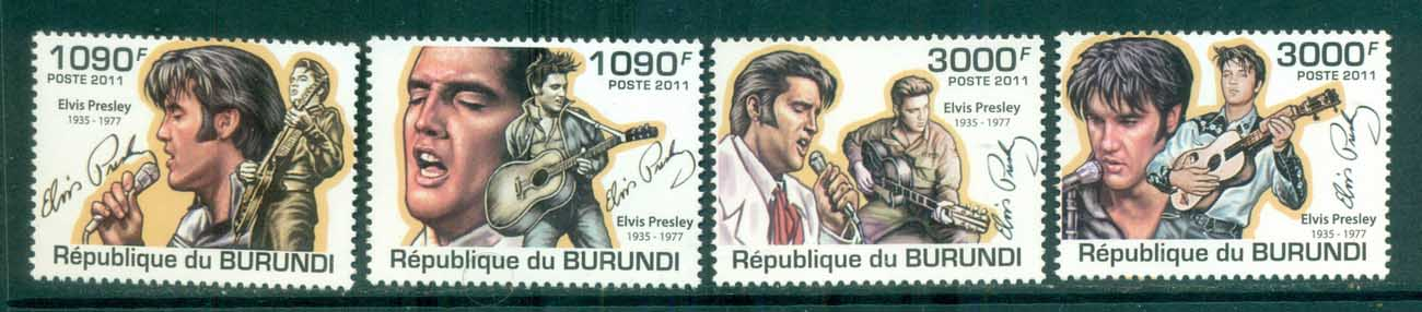 Burundi 2011 Famous People, Music, Male, Elvis Presley MUH BUR11313a
