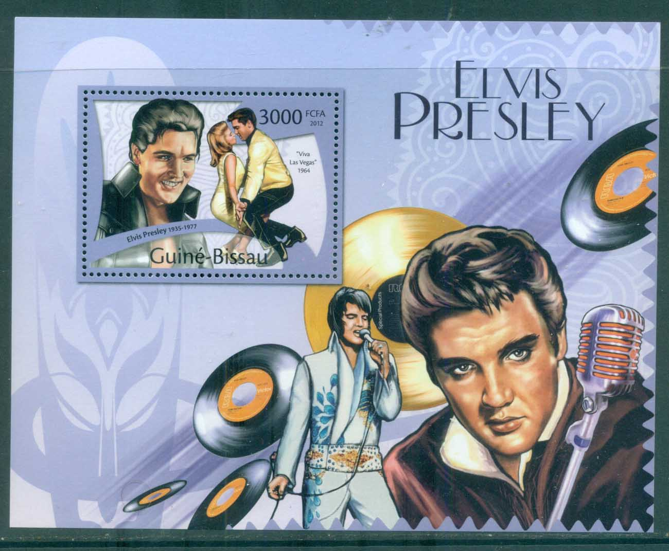 Guinea Bissau 2012 Famous People, Music, Male, Elvis Presley MS MUH GB12108b