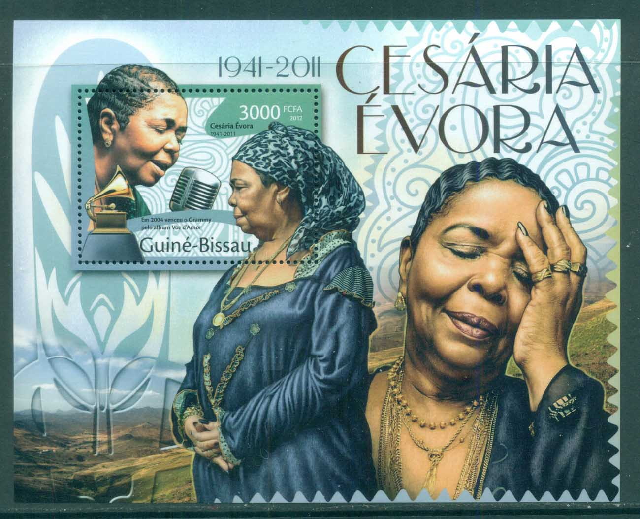 Guinea Bissau 2012 Famous People, Music, Female, Cesaria Evora MS MUH GB007