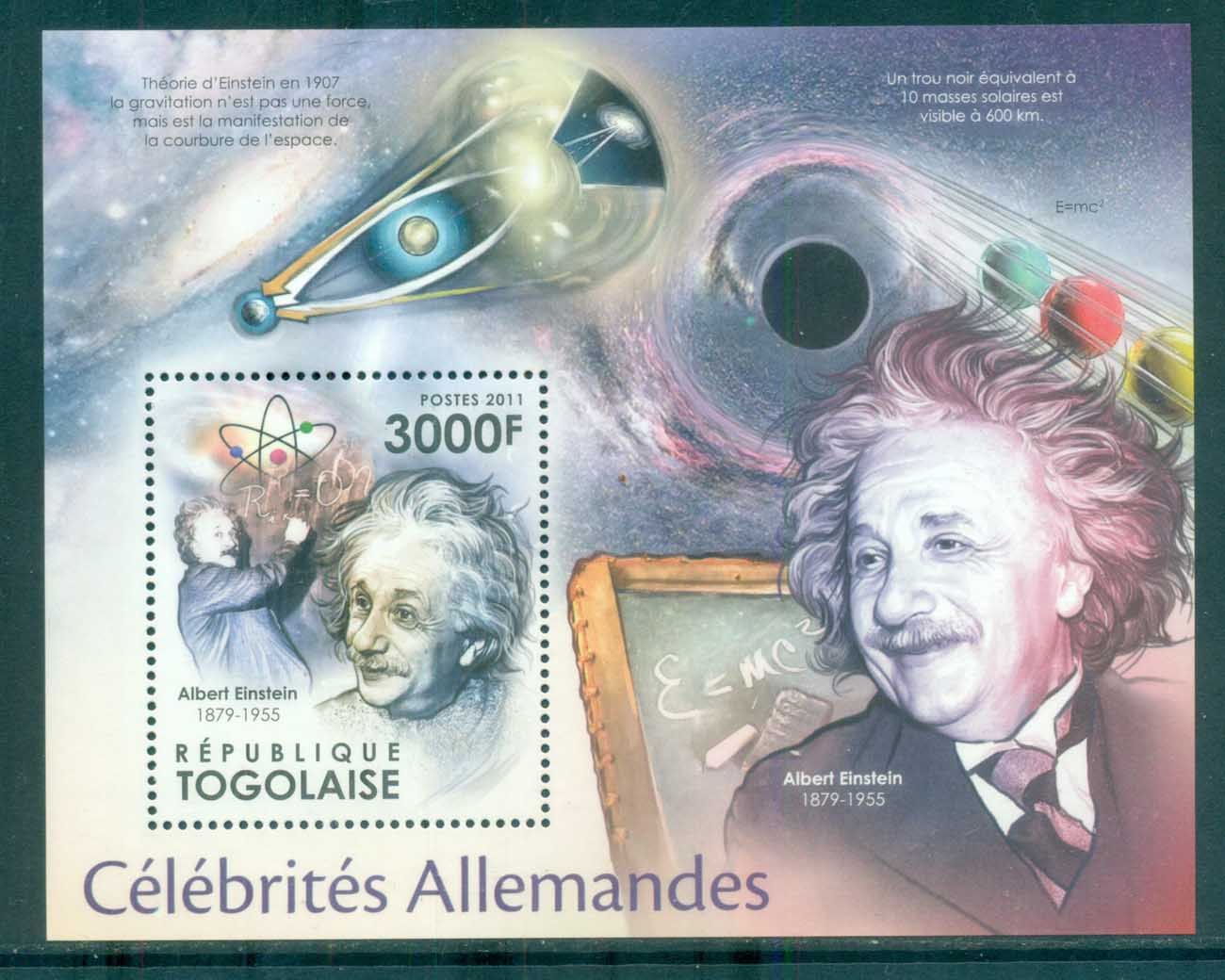 Togo 2011 Famous People, German, Einstein MS MUH TG11504b