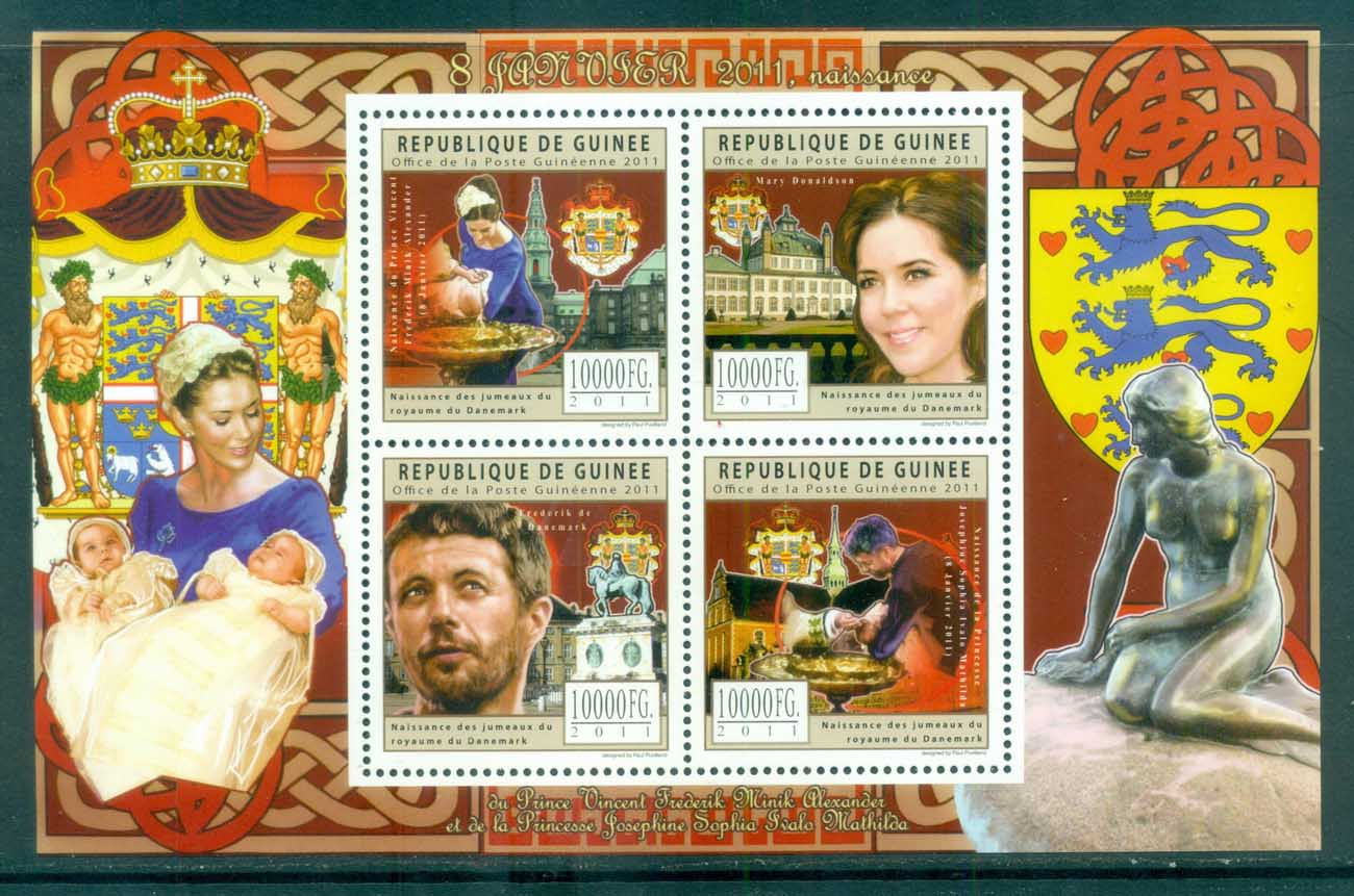 Guinee 2011 Famous People, Royalty, Danish, Frederick & Mary MS MUH GU11701a
