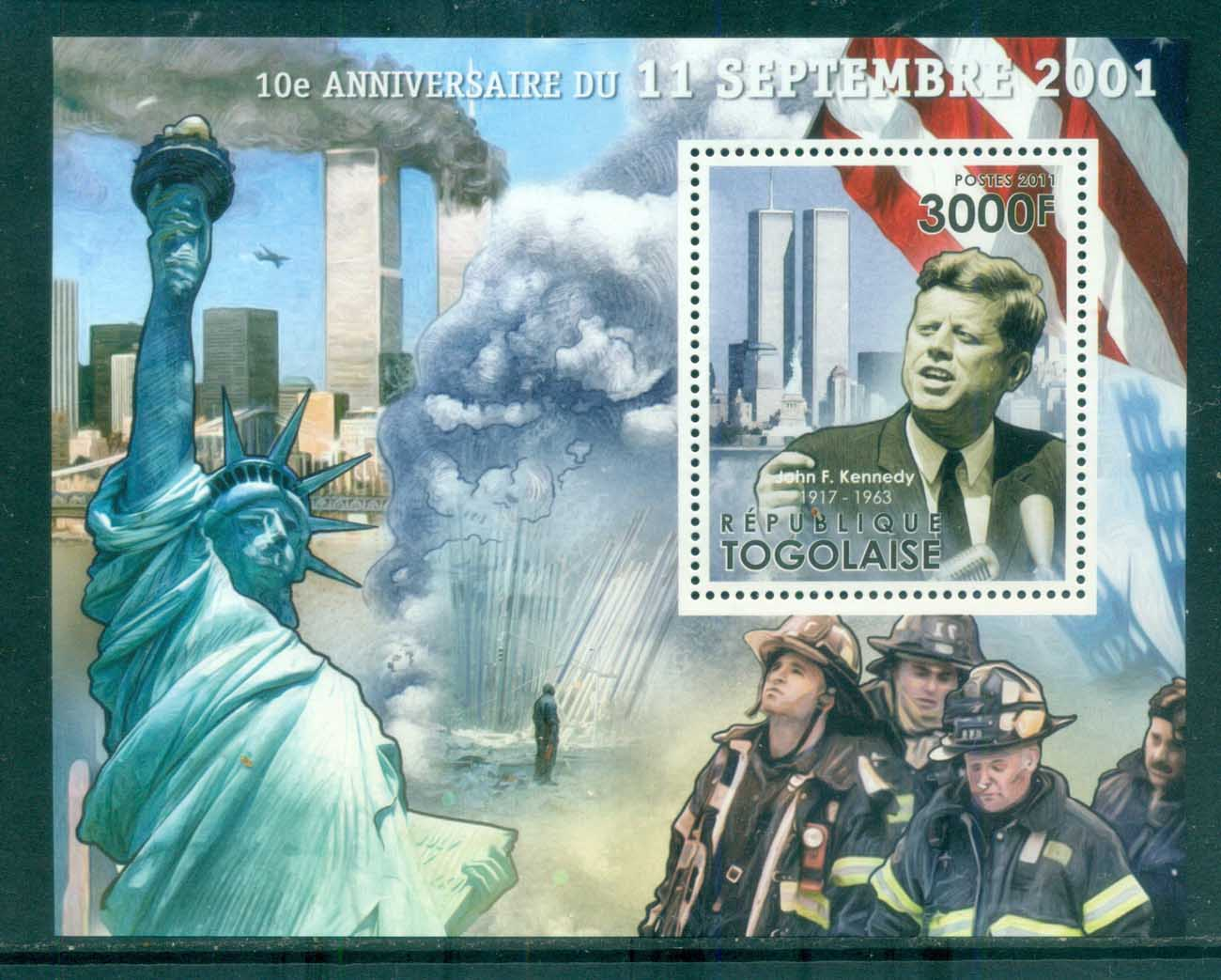 Togo 2011 Famous People, USA Presidents, JFK Kennedy MS MUH TG11508b
