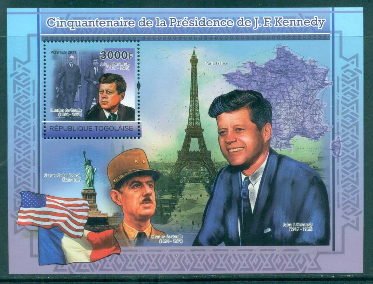 Togo 2011 Famous People, USA Presidents, JFK Kennedy MS MUH TG11218b