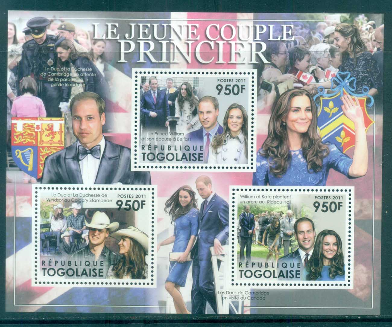 Togo 2011 Famous People, Royalty, William & Kate MS MUH TG11501a